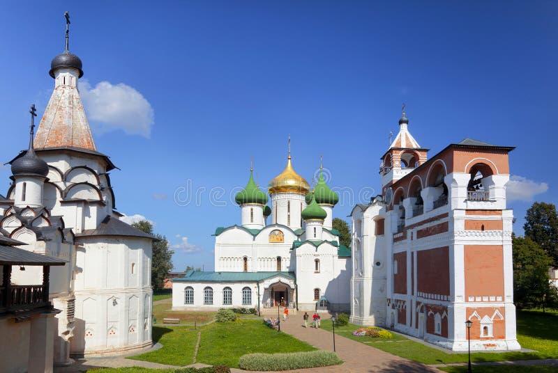 Spaso-Efimiev修道院的建筑合奏 苏兹达尔, 库存照片