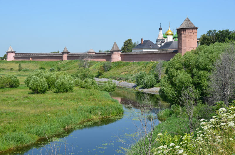 Spaso-Euthymius monaster w Suzdal zdjęcie stock