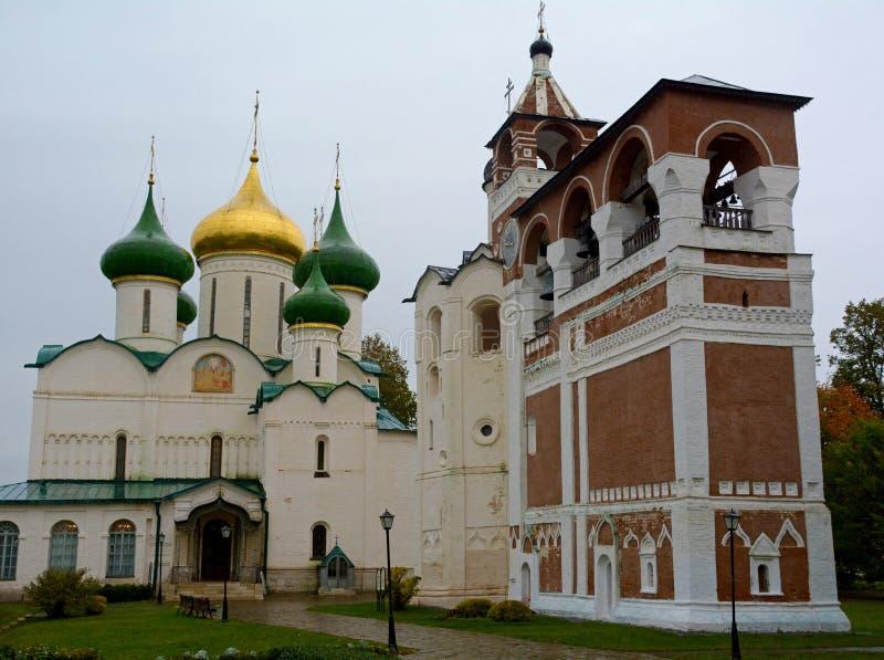 Spaso-Evfimiyevsky修道院教会在苏兹达尔镇 免版税库存照片