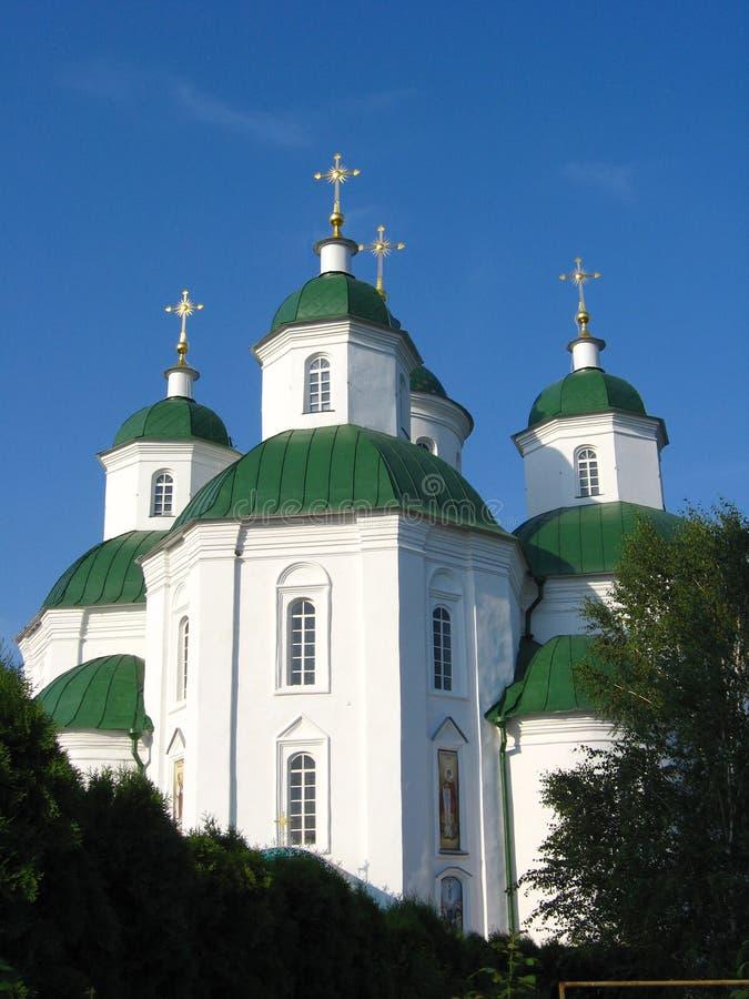 Spaso-Preobrazhenskii cathedral in Priluky town. Pryluky town / Ukraine. 20 July 2012: Spaso-Preobrazhenskii cathedral in Priluky town on еру stock images