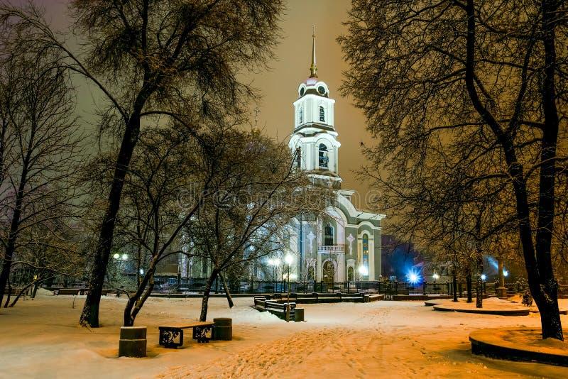 Spaso-Preobrazhensky大教堂的看法 免版税库存图片