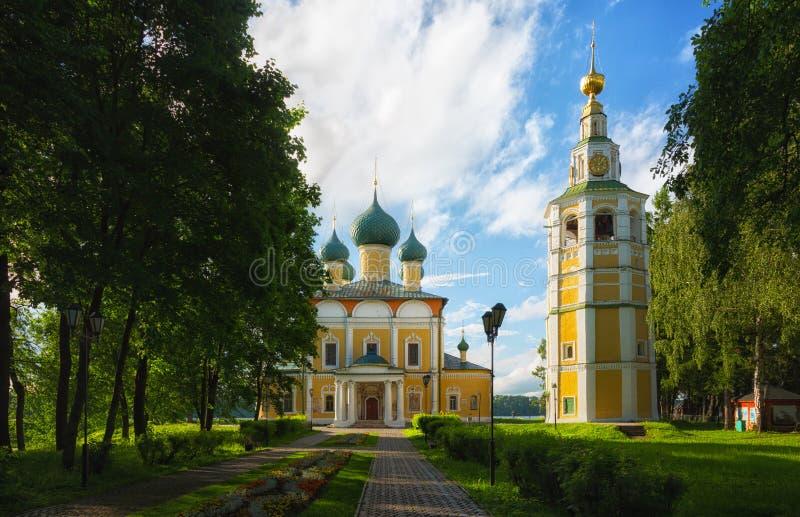 Spaso-Preobrazhensky domkyrka i Uglich royaltyfri bild