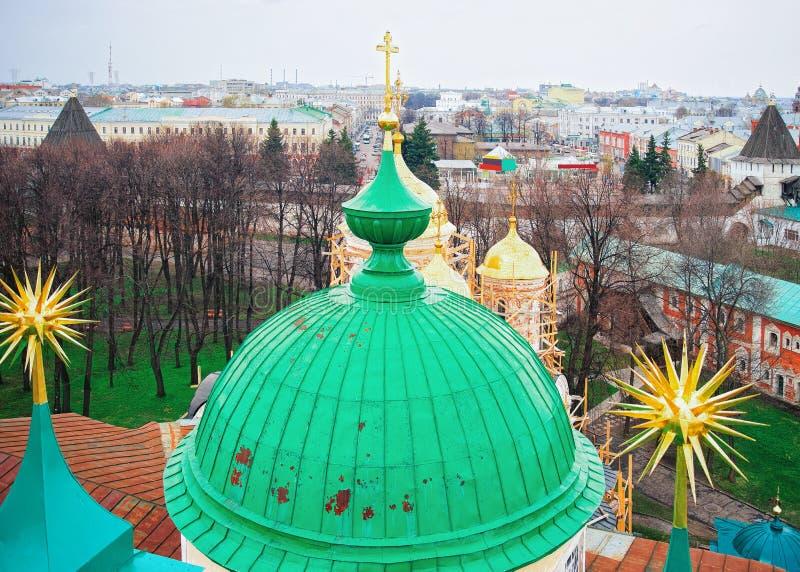 Spaso Preobrazhensky kloster Yaroslavl i Ryssland arkivfoto