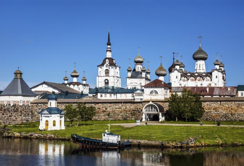 Spaso-Preobrazhensky o monastério de Solovetsky Stavropegial na ilha de Bolshoi Solovetsky no mar branco Região de Arkhangelsk fotos de stock
