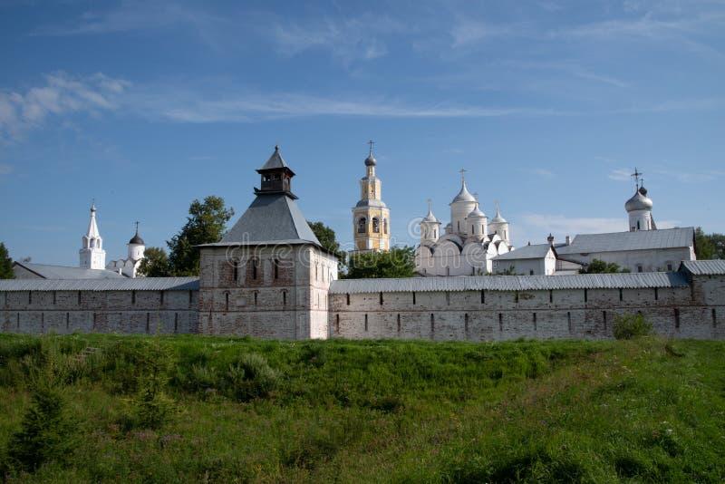 Spaso-Prilutsky修道院看法在沃洛格达州 免版税库存图片