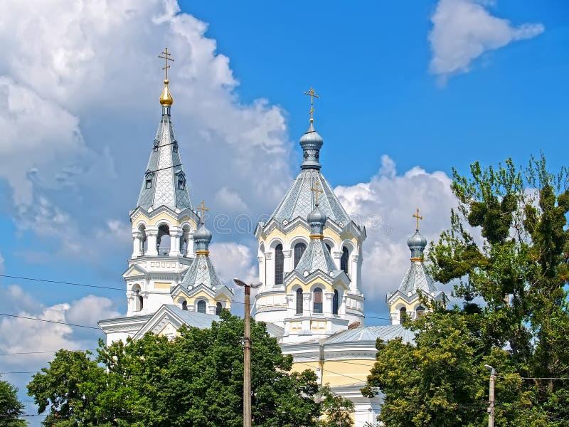 Spaso-Transfiguration Cathedral. Zhytomyr, Ukraine. Spaso-Transfiguration Cathedral in the summer. Zhytomyr, Ukraine royalty free stock images
