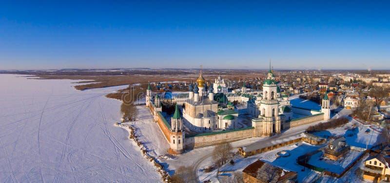 Spaso-Yakovlevsky Dmitriev Monastery in Rostov the Great stock photography