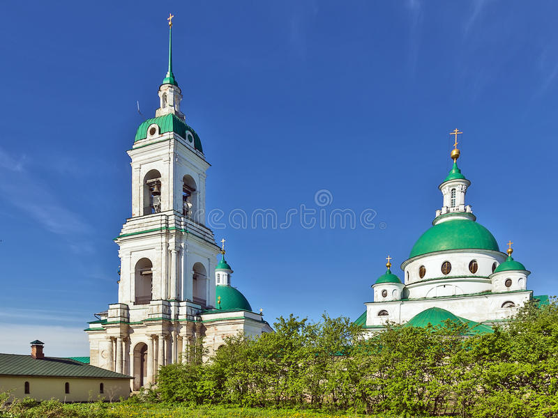 Spaso-Yakovlevsky Monastery, Rostov. Dimitrievsky Cathedral and tower bell in Spaso-Yakovlevsky Monastery in Rostov, Russia royalty free stock photography