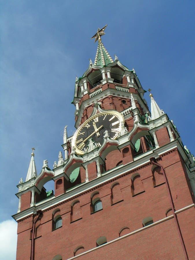 Spasskaya Kontrollturm, Moskau Kremlin, stockfotos