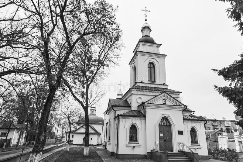 Spasskaya Orthodoxe Kerk De stad van Poltava, de Oekraïne stock foto's