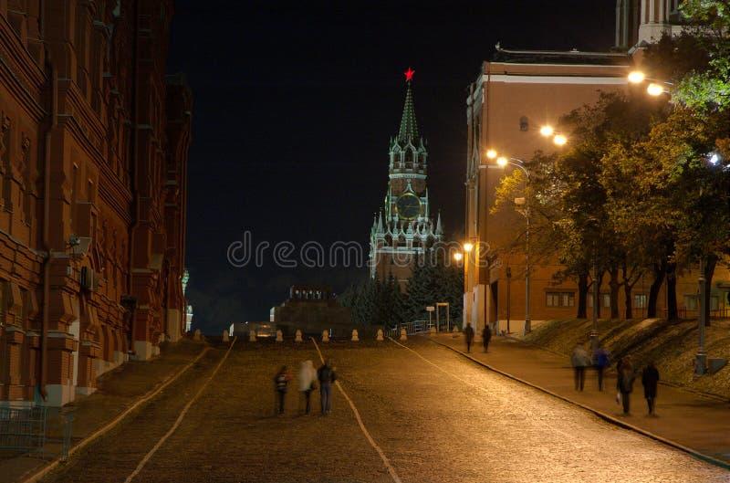 Download Spasskaya Tower. stock photo. Image of moscow, night, kremlin - 1553802
