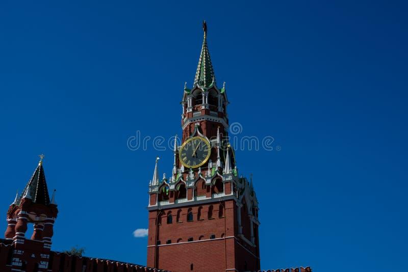 Spasskaya wierza wybawiciela wierza zdjęcie royalty free