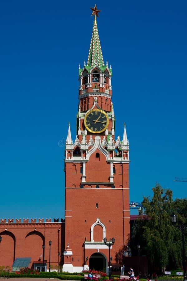 Spasskaya wierza wybawiciela wierza fotografia royalty free