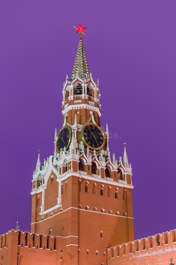 Spasskayatoren in het Kremlin - Moskou Rusland royalty-vrije stock afbeelding