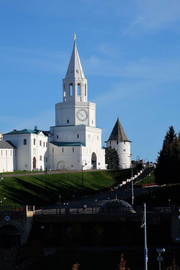Spasskayatoren, Kazan het Kremlin, Kazan Rusland stock afbeeldingen