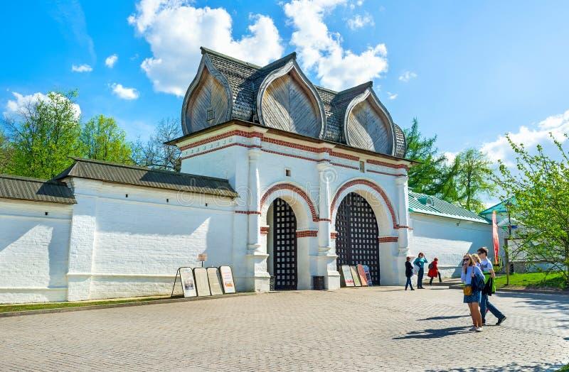 Spassky brama Kolomenskoye Królewska nieruchomość obrazy royalty free