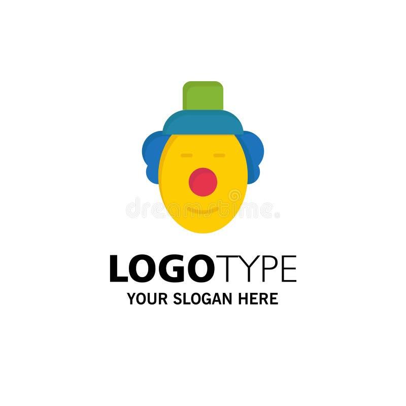 Spassvogel, Clown, Zirkus-Geschäft Logo Template flache Farbe lizenzfreie abbildung