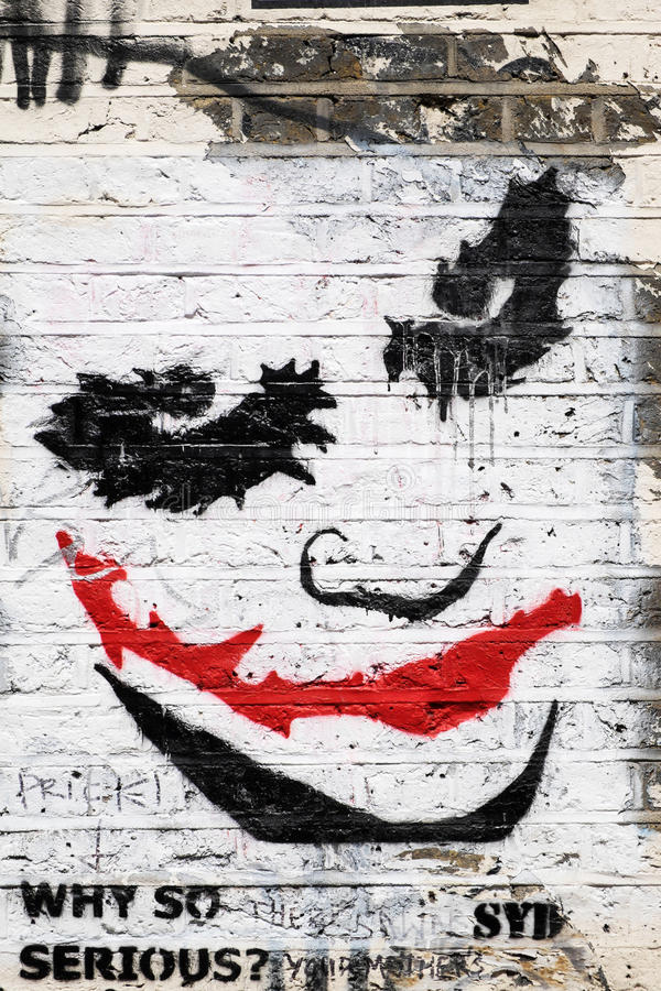 Spassvogelgesichtsgraffiti lizenzfreies stockfoto