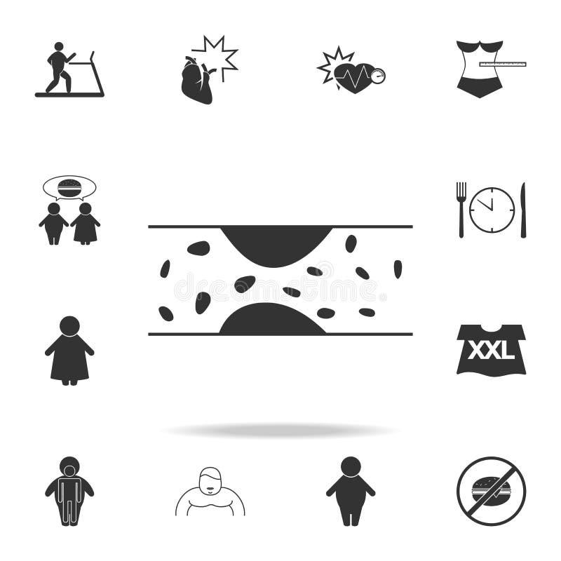 spataderspictogram Gedetailleerde reeks zwaarlijvigheidspictogrammen Premie grafisch ontwerp Één van de inzamelingspictogrammen v stock illustratie
