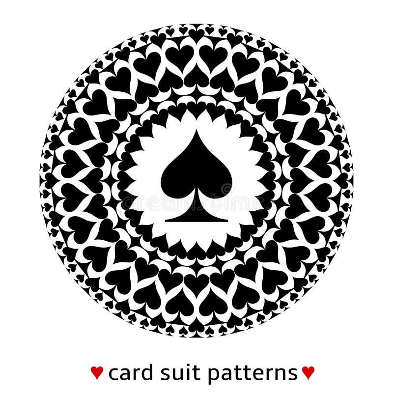 Spatenkarten-Klagenmuster stock abbildung