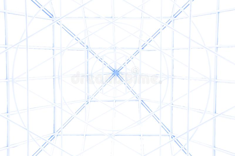 The spatial background. Modern facade the spatial background royalty free stock image