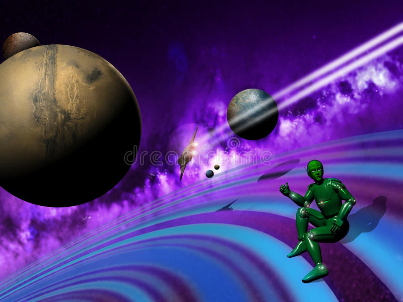Download Spatial Hitch-hiker stock illustration. Image of planet - 20512193
