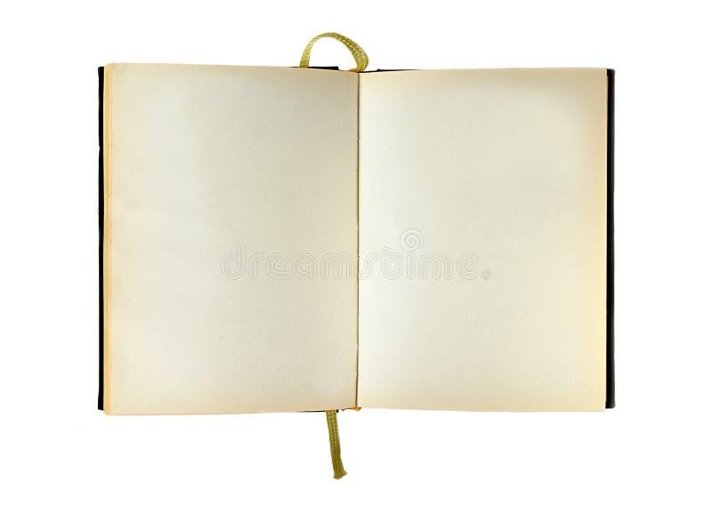 Spatie geïsoleerda geopend boek royalty-vrije stock fotografie