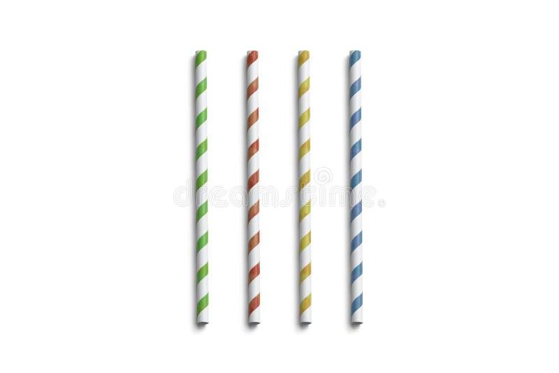 Spatie gekleurd document geïsoleerd stromodel, hoogste mening royalty-vrije stock foto