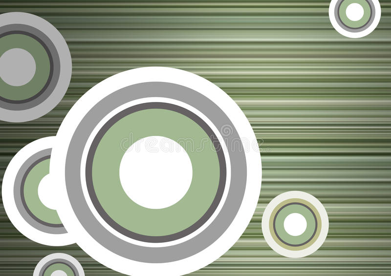 Spatie met stroken en cirkels stock illustratie