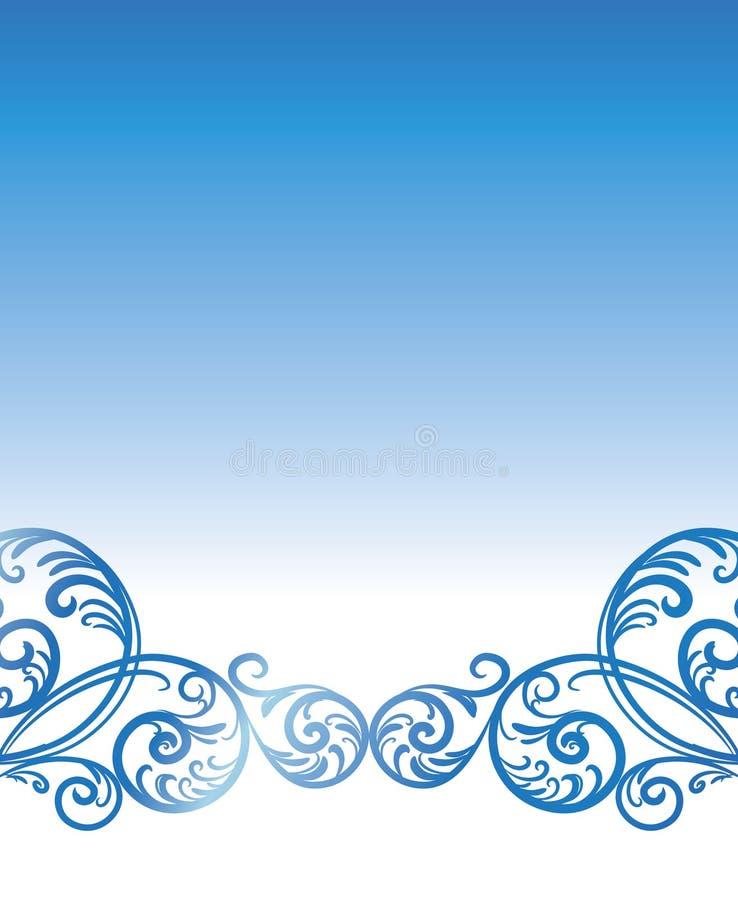 Spatie met tak-werveling. stock illustratie