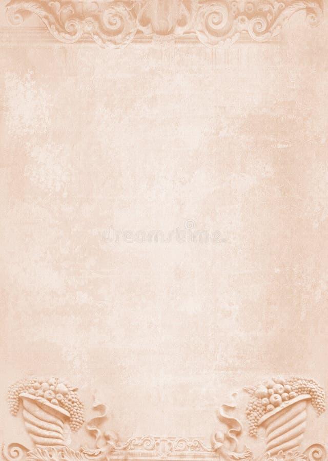 Spatie voor vliegers, berichten, menukaarten, affiches, enz. in sjofele elegant Grafische collage in uitstekende stijl Gesneden c royalty-vrije stock fotografie
