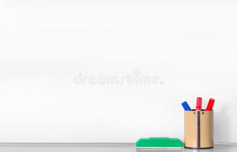 Spatie whiteboard royalty-vrije stock fotografie