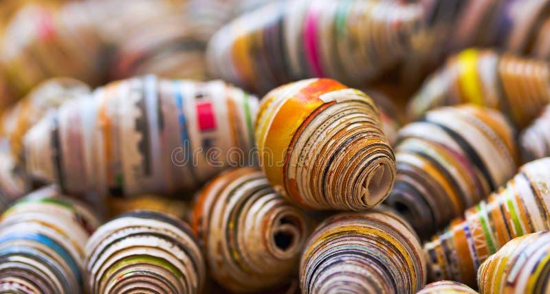 Spaties voor zelf-gemaakte parels uit document royalty-vrije stock afbeelding