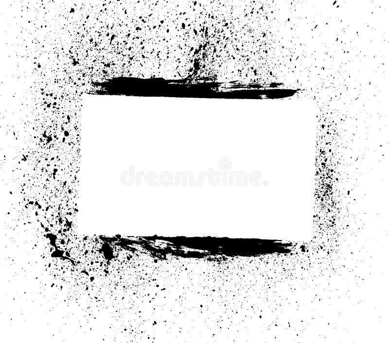 Spatter de Grunge com bord da escova imagens de stock