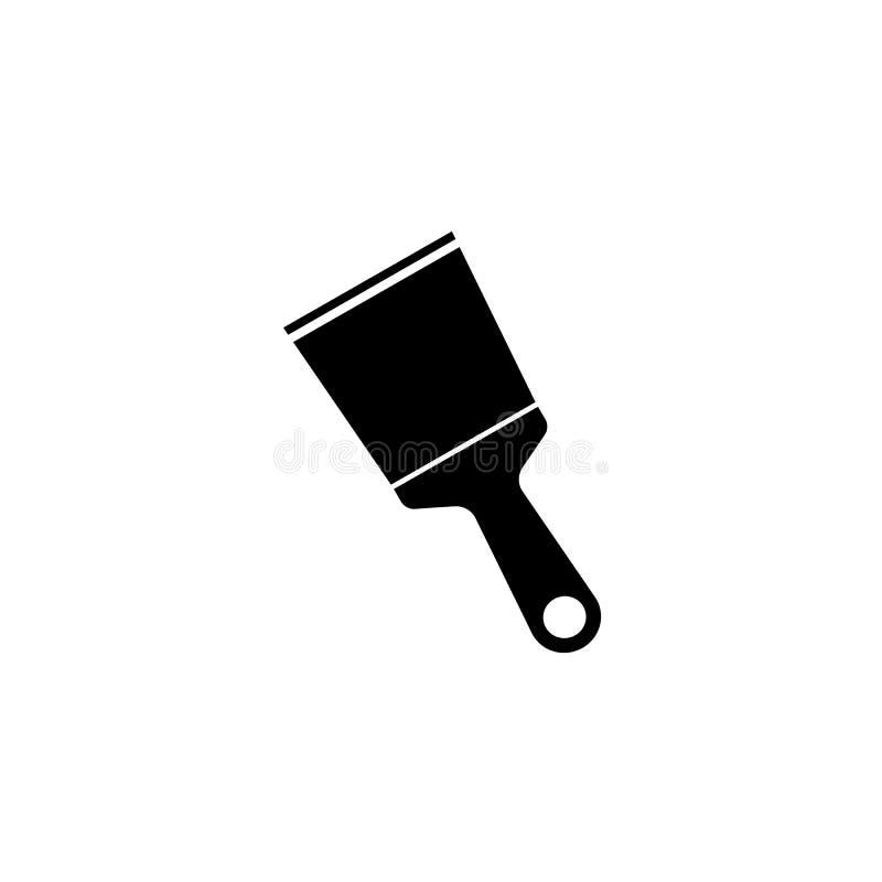 Spattle和刮板坚实象,修造修理 库存例证