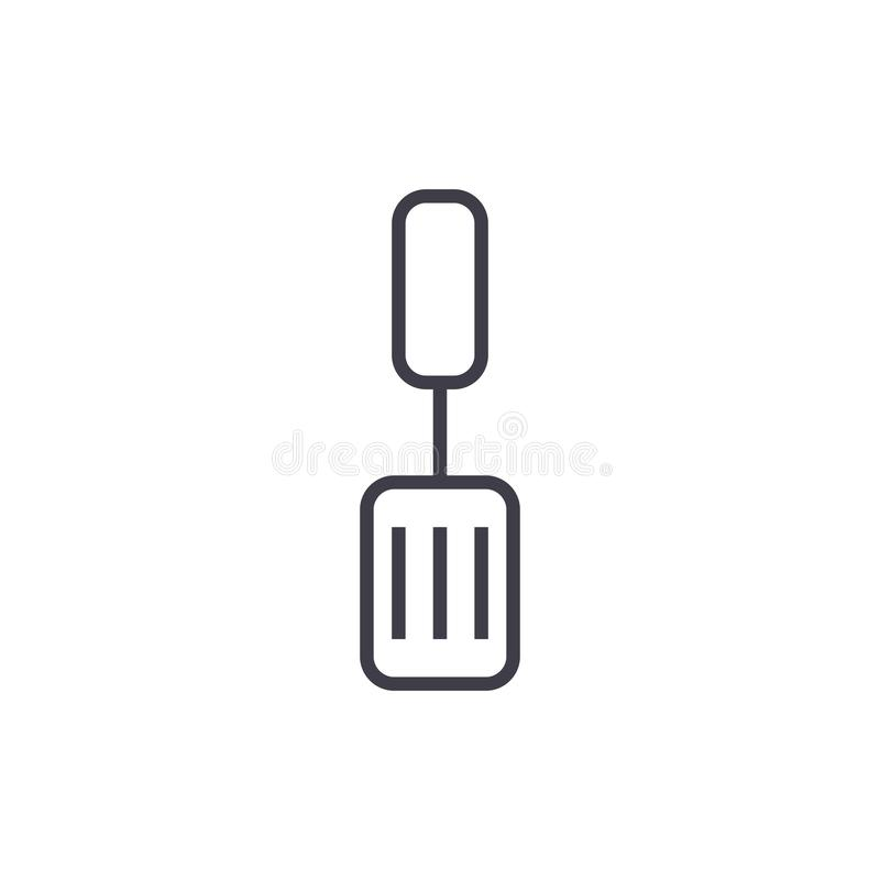 Black Silhouette Vector Whisk Spatula And Knife Icon Set