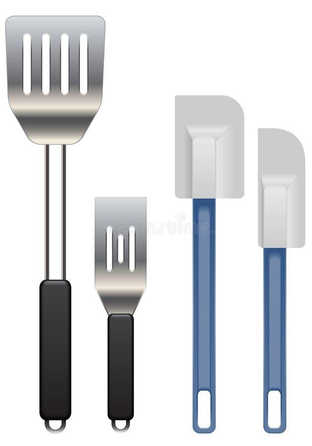 spatulas τορναδόροι διανυσματική απεικόνιση
