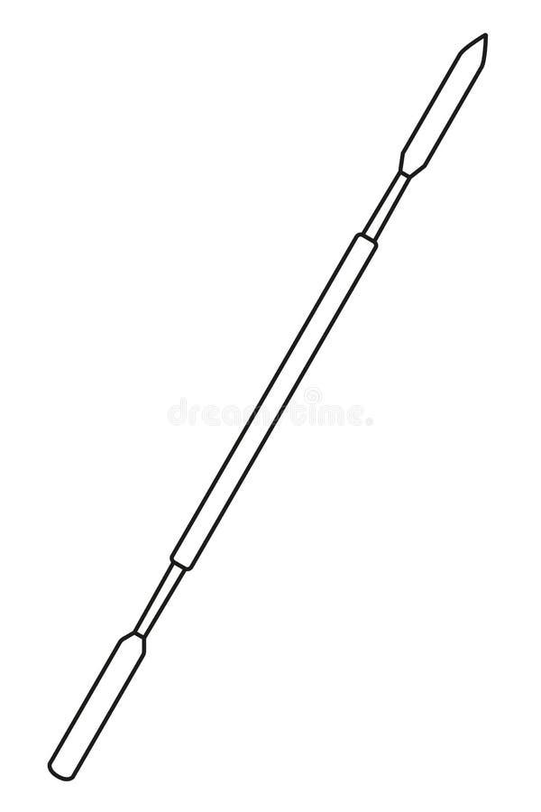 Spatule dentaire noire et blanche de schéma illustration de vecteur