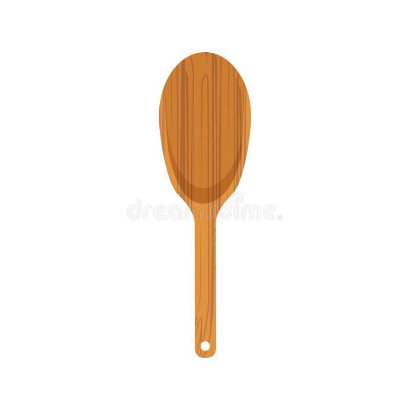 Spatule en bois de cuisine illustration de vecteur