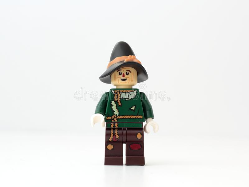 Spaventapasseri LEGO immagini stock