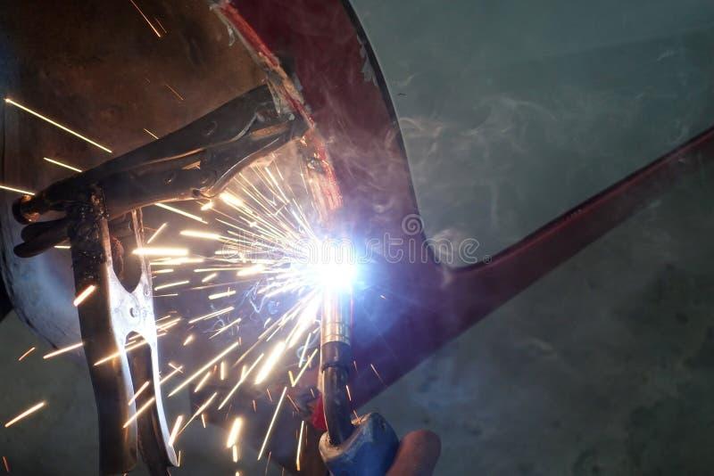 Spawacz Przemysłowa automobilowa część zdjęcia stock