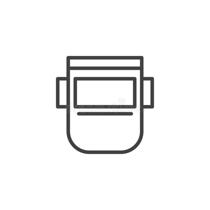 Spawalnicza maskowa kontur ikona ilustracji