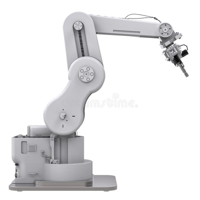 Spawalnicza mechaniczna ręka odizolowywająca na bielu ilustracja wektor
