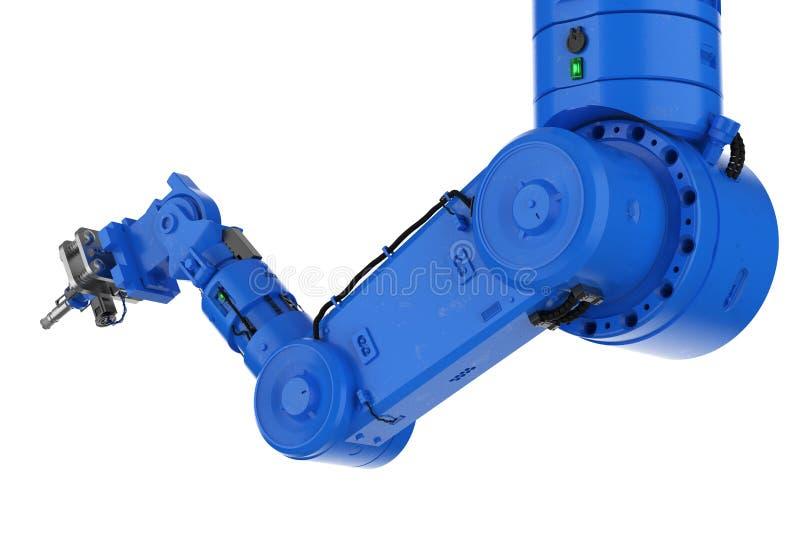 Spawalnicza mechaniczna ręki lub robota ręka royalty ilustracja