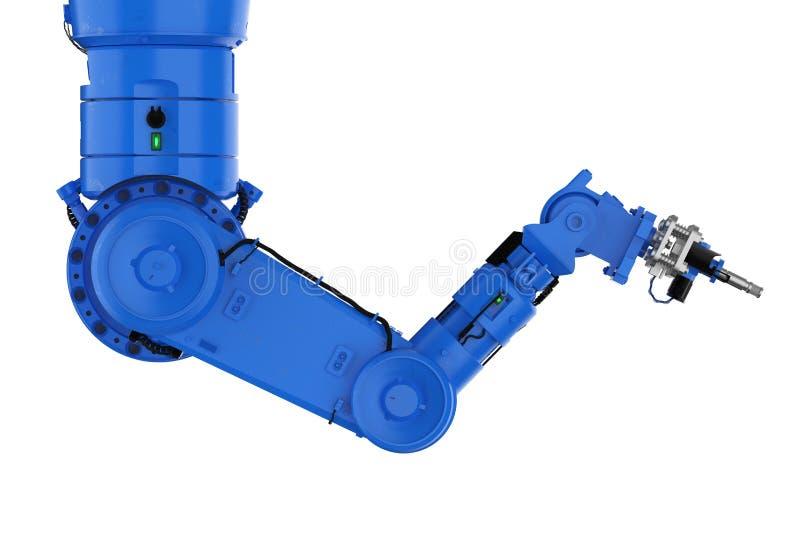 Spawalnicza mechaniczna ręki lub robota ręka ilustracja wektor
