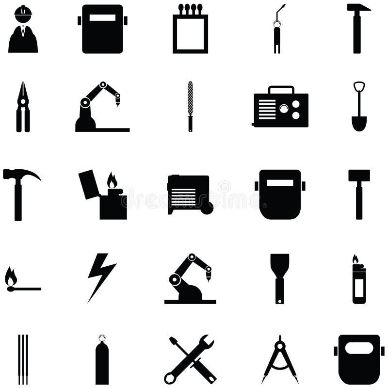 Spawalniczy ikona set ilustracja wektor