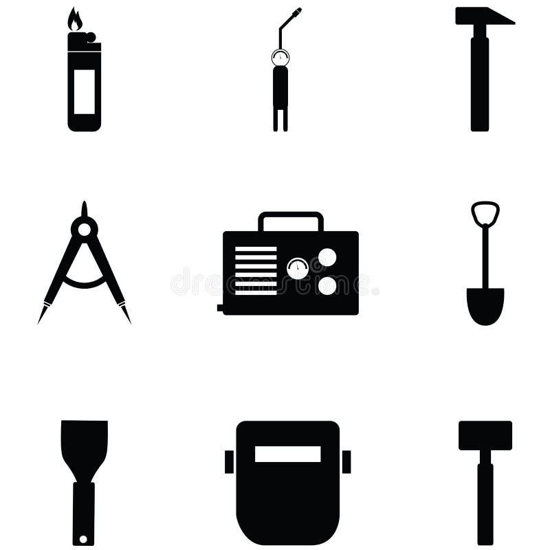 Spawalniczy ikona set ilustracji