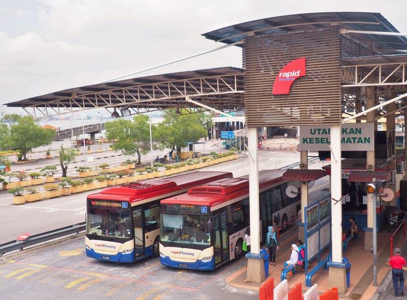 Spawki Quay dworzec autobusowy & prom zdjęcie royalty free
