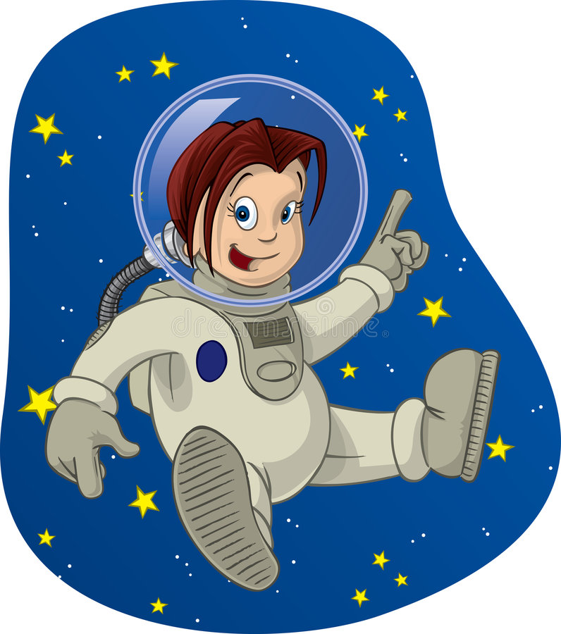 Spazi il bambino #3 illustrazione di stock