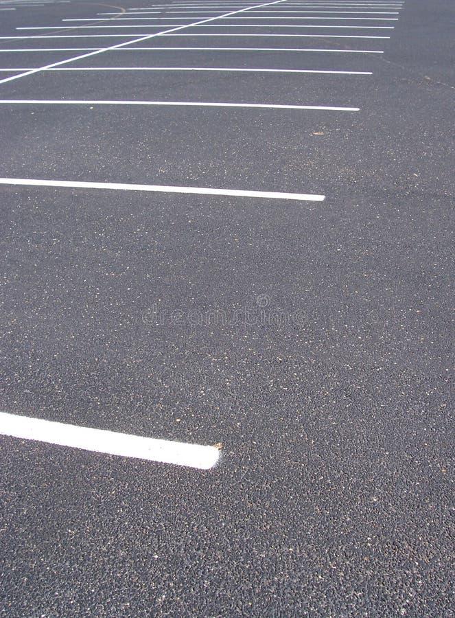 Spazi nel parcheggio fotografia stock